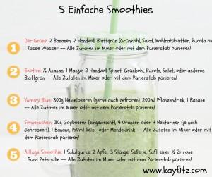 5 einfache Smoothies
